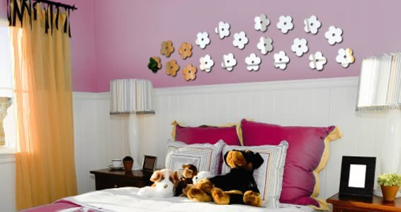 Mini flowers wall mirrors