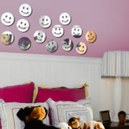 Smiley acrylic mirrors