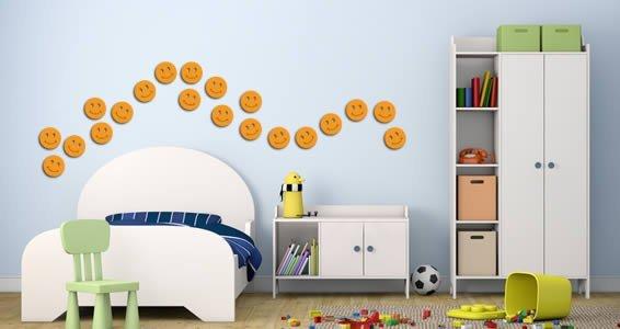 Mini Smileys wall appliques