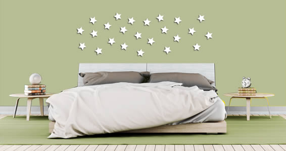 Mini Stars wall applique