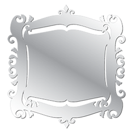 Baroque Mirror resin wall