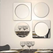 Cubicircle resin wall mirror