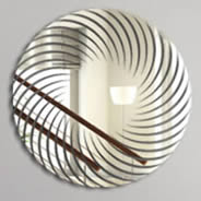 Spiral resin acrylic mirrors