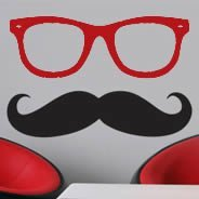 Mister Mustache wall decals