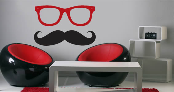 mister mustache wall decals dezign with a z mustache boarder wall sticker decorative wall art