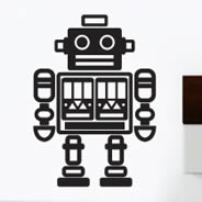 Mister Roboto wall decal