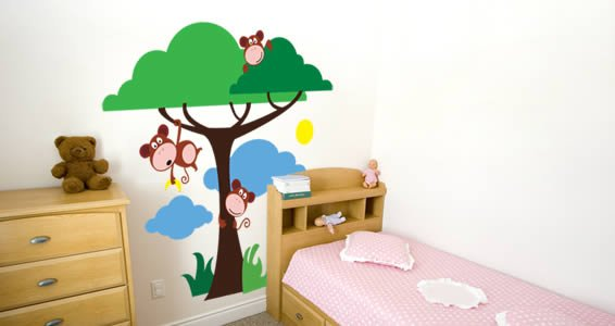 Hanging Monkey Wall Decals