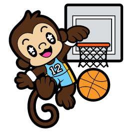 Basketball Monkey wall stickers by Charuca