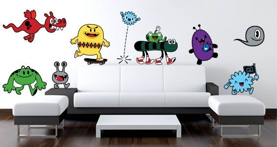 Monsters Parade wall decals by Charuca & Monsters Parade wall decals by Charuca | Dezign With a Z