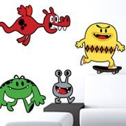 Monsters Parade wall decals by Charuca