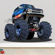 Monster SUV truck wall decal