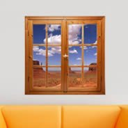 Monument Valley Fake Window Murals