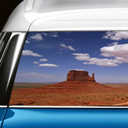 Monument Valley see through car decal