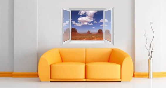 Monument Valley Fake Window Murals