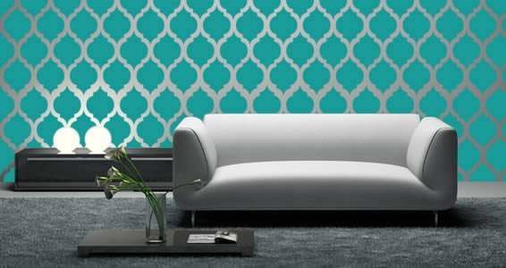 Moroccan modern wall decals  sc 1 st  Dezign With a Z & Moroccan modern wall decals | Dezign With a Z