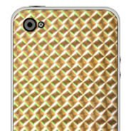 Gold Mosaic iPhone decals skin