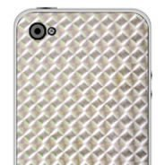Silver Mozaic iPhone decals skin
