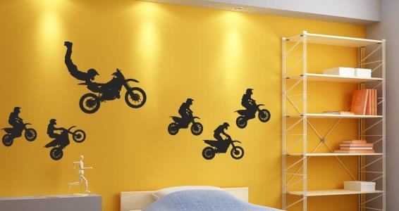 Motocross Pack wall decals