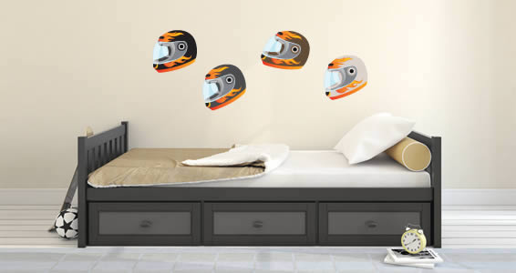 Motorbike Helmets wall decals & Motorbike Helmets wall decals | Dezign With a Z
