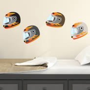 Motorbike Helmets wall decals