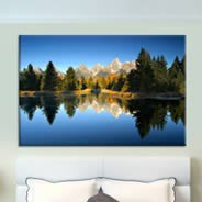 Mountain Lake on canvas