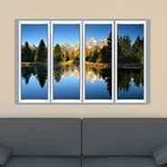 Moutain Lake Faux Window Murals