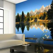 Mountain Lake giant wall mural