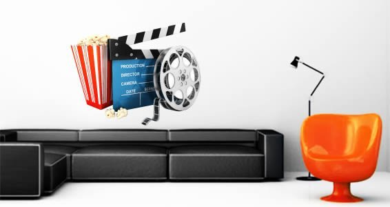 Movie Time wall decal