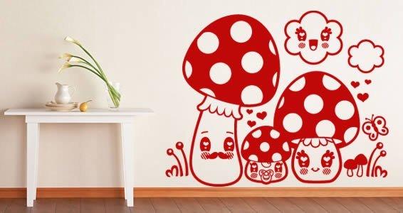 Mushrooms stick ons for nursery