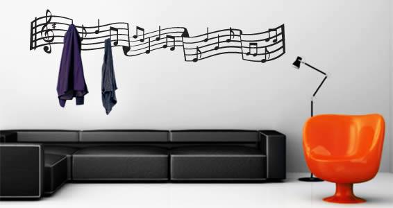 Music Notes coat rack decals