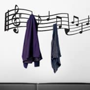 Music Notes coat rack decals