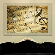 Music Notes Plexiglass Stand Off