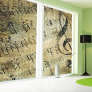 Music Notes Symphony see through window decals