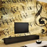 Musical wall murals
