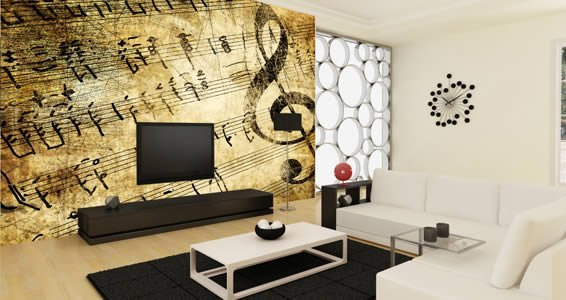 Musical wall murals Dezign With a Z