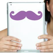 Mustache iPad decal