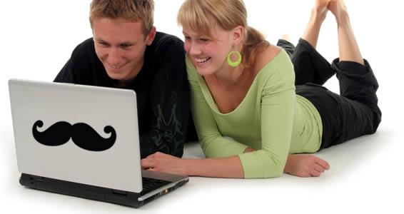 Macho Mustache laptop decals skin