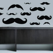 My Mustache Pack wall decals