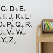 My Alphabet wall decals