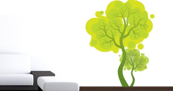 My Curly Trees wall decals