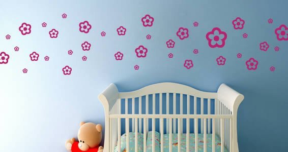 My cute Flowers wall decals