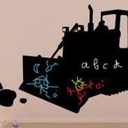 My Digger chalkboard wall decals