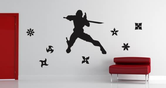 My Ninja pack wall decals