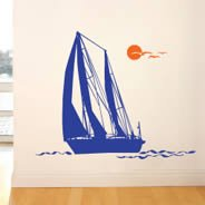 My Sailboat wall decal