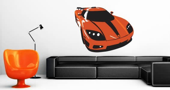Incroyable Sports Car Wall Decals