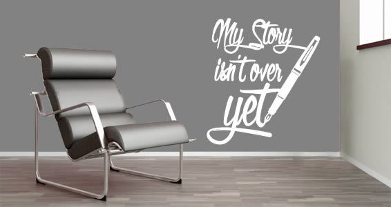 My Story quote decals