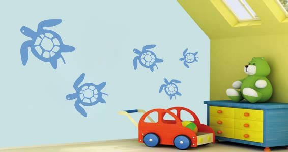 My Cute Turtles wall stickers