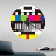 My TV Test Screen clock wall decal