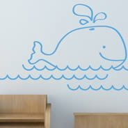 My Whale wall decals