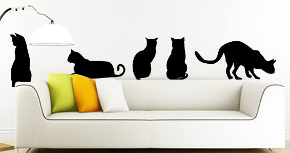 cats wall stickers | dezign with a z